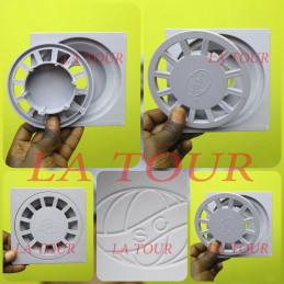 SIPHON DE SOL 150x150MM PVC...