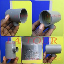 TE REDUCTEUR PVC 50/20 GRIS