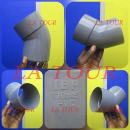 COUDE PVC 1/8 Ø 110 IBP GRIS