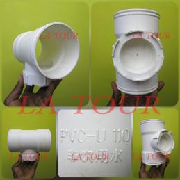 TE PVC 1/4 110 GINDE BLANC