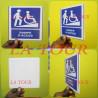PANNEAU D'IDENTIFICATION RAMPE D'ACCES + PICTO HANDICAPE BLEU BLANC