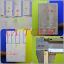 FAIENCE 25x39 FLEURIE AU...