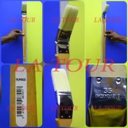 BROSSE COUDEE 35  BOIS/INOX