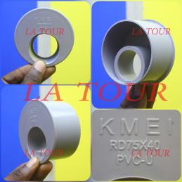 REDUCTEUR PVC 75/40 KMEI GRIS