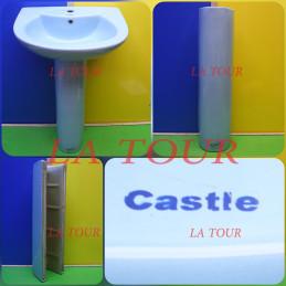 COLONNE LAVABO CASTLE BLEU