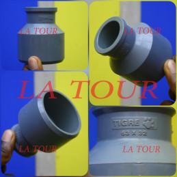 TE REDUCTEUR PVC 63/32 GRIS